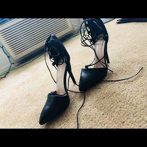 Public Desire Shoes - Black Strappy Heels